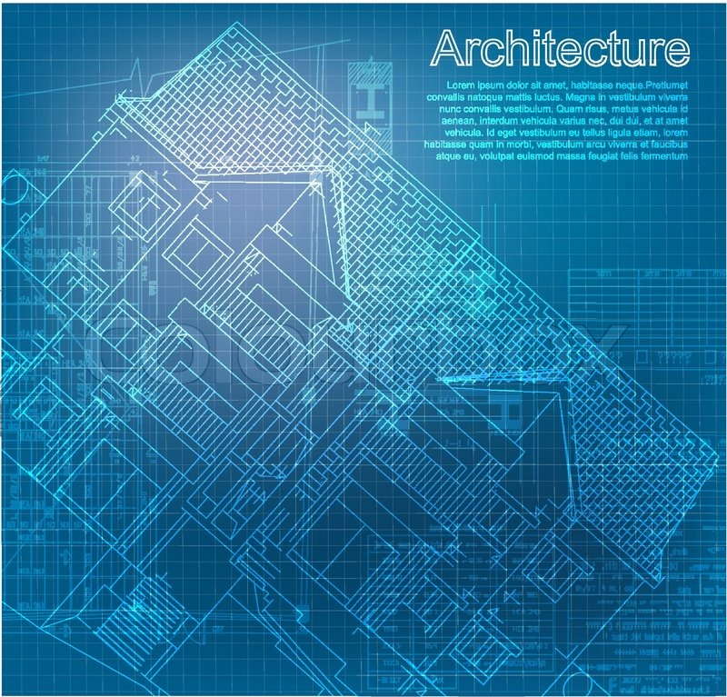 Part of architectural project, architectural plan, technical project ...