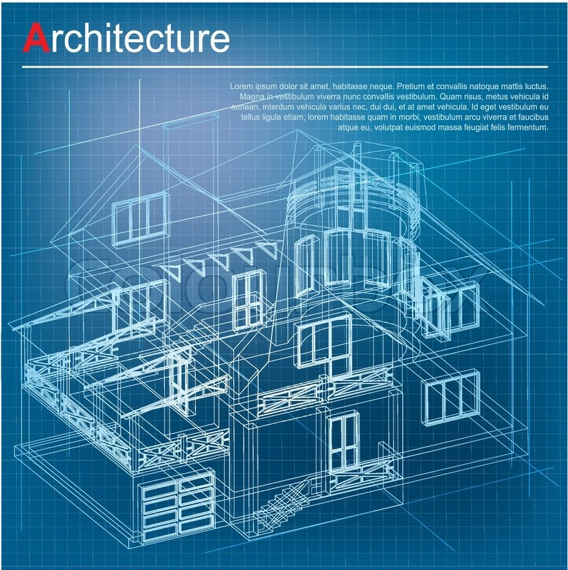 Architecture Design Background urban blueprint (vector). architectural background. part of