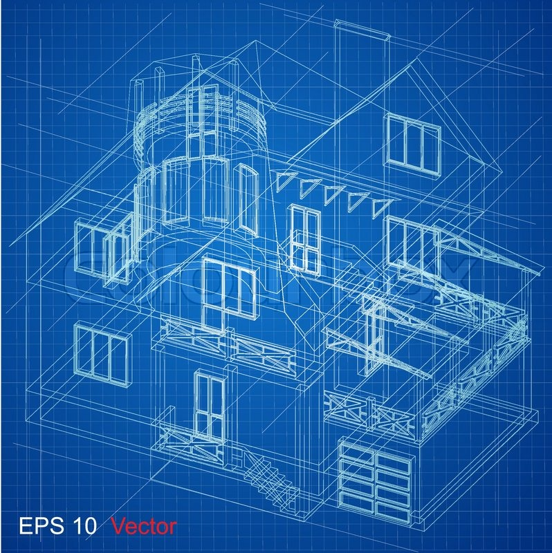 Urban blueprint vector architectural background part for House blueprint images