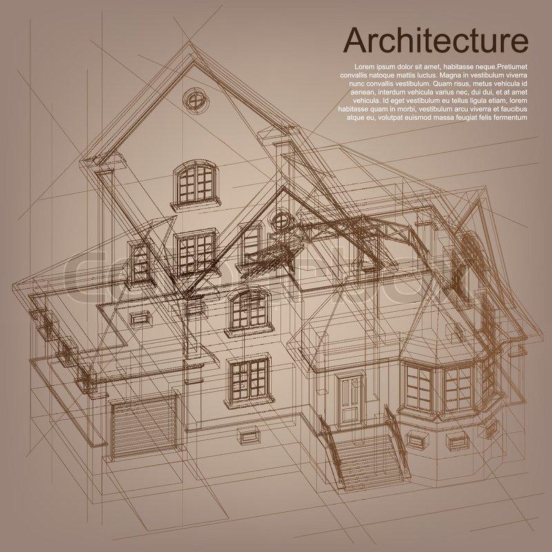 Vintage architektonischen hintergrund teil for Architecture papier