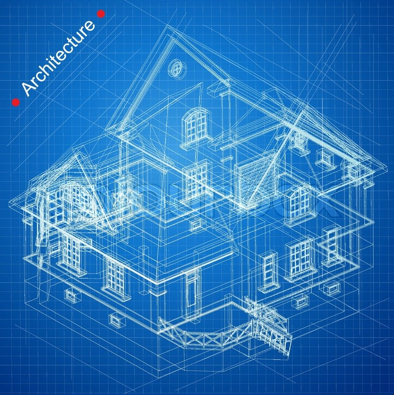 Urban blueprint vector architectural background part for Architecture blueprints