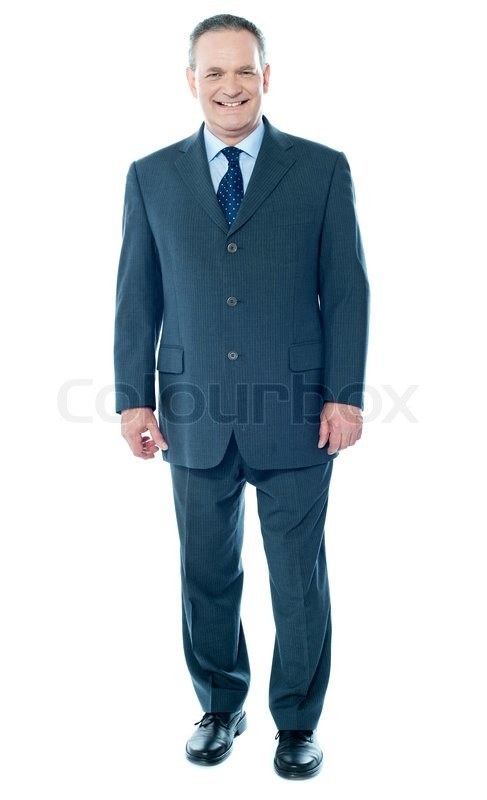 Full length view of senior corporate male, stock photo