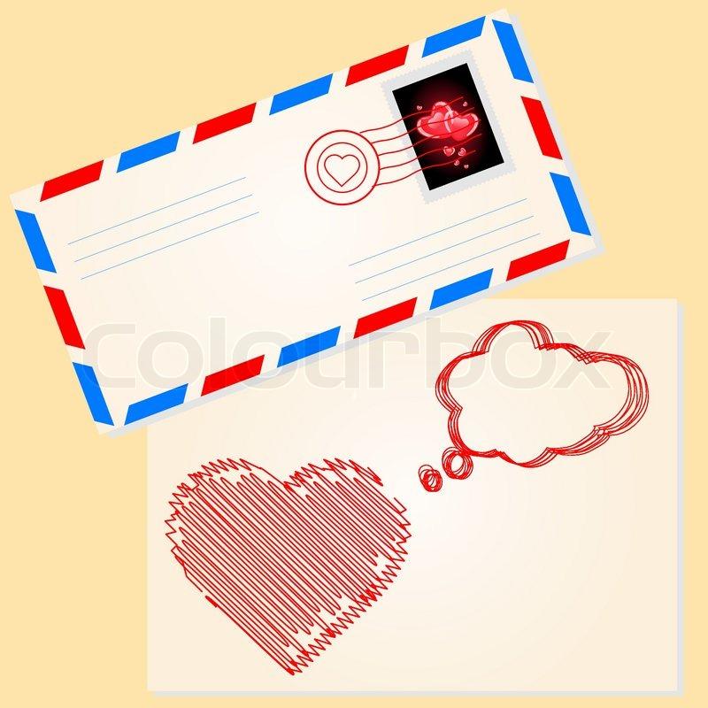 Love Letter For Valentine S Day Stock Vector Colourbox