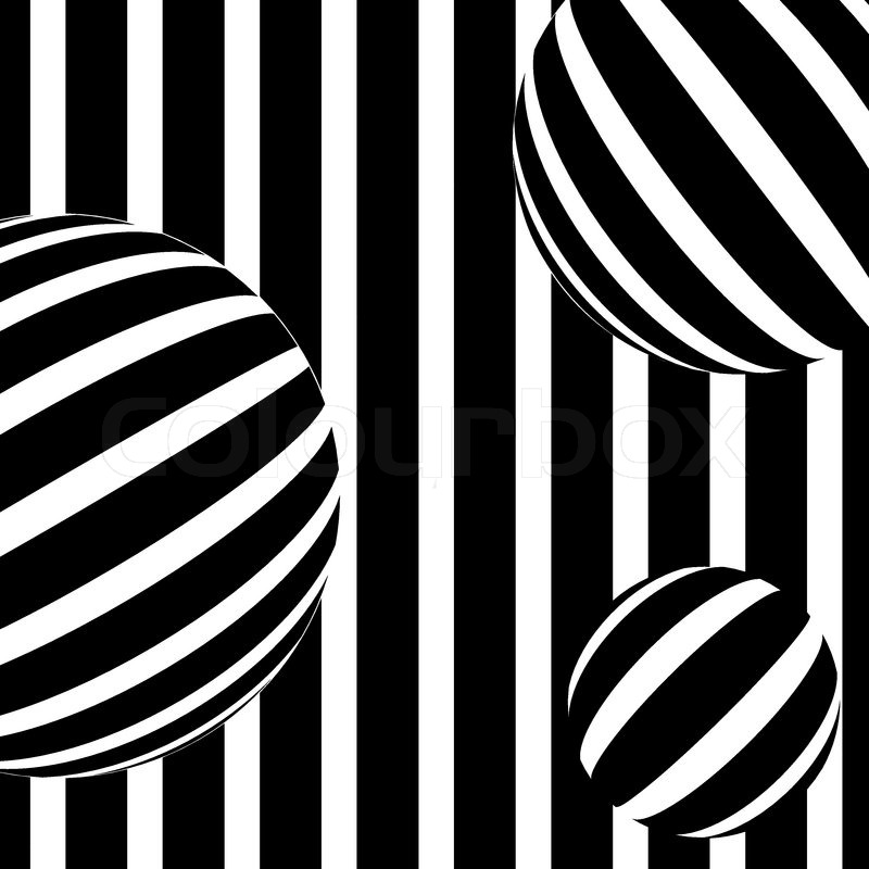 Illustration of abstract stripe background in black and white