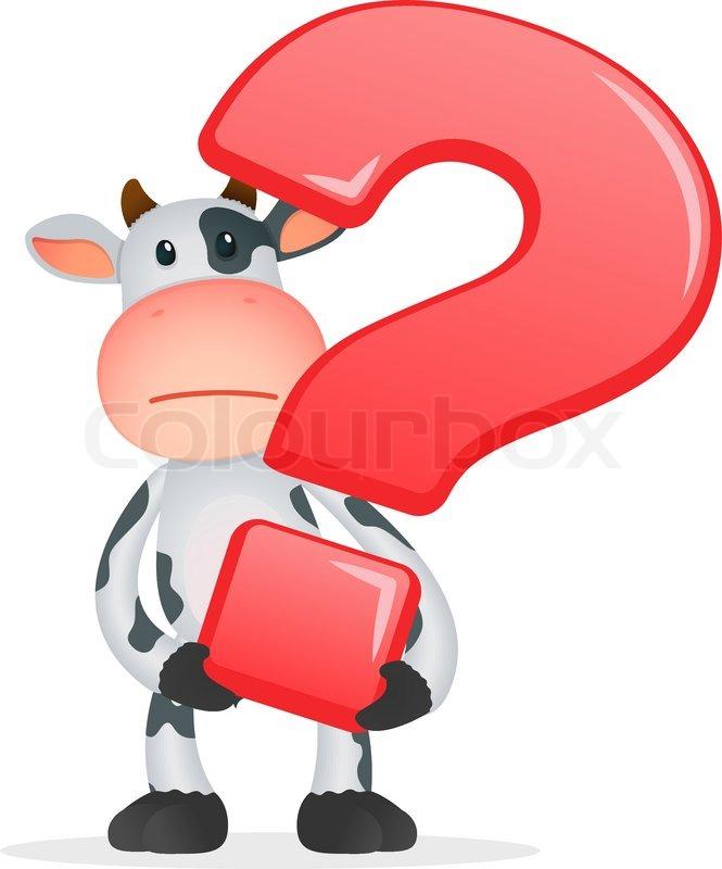 funny cartoon cow stock vector colourbox Free Clip Art Question Mark Sign Free Clip Art Question Mark Symbols