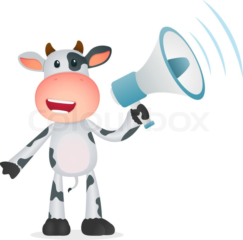 Funny cartoon cow | Stock Vector | Colourbox