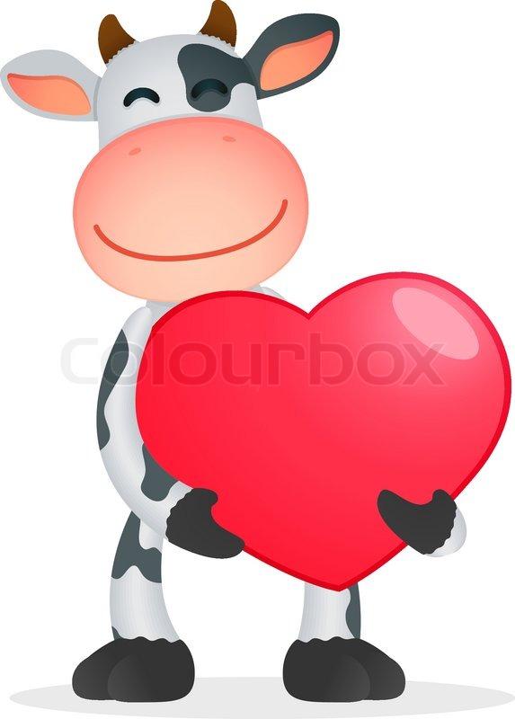 Funny Cartoon Cow Stock Vector Colourbox
