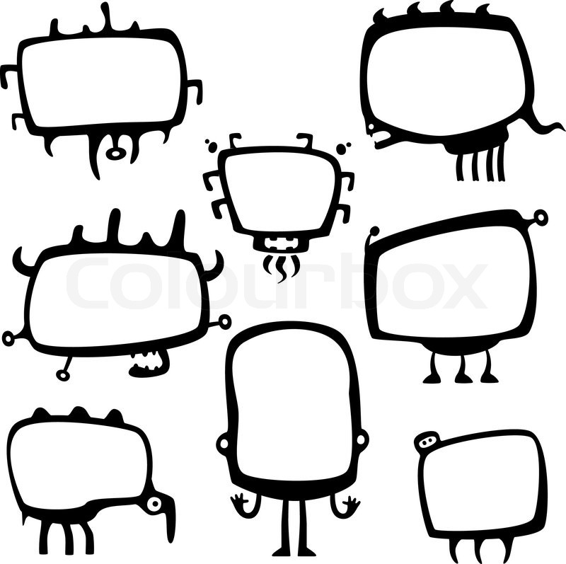 Funny frame monsters | Stock Vector | Colourbox