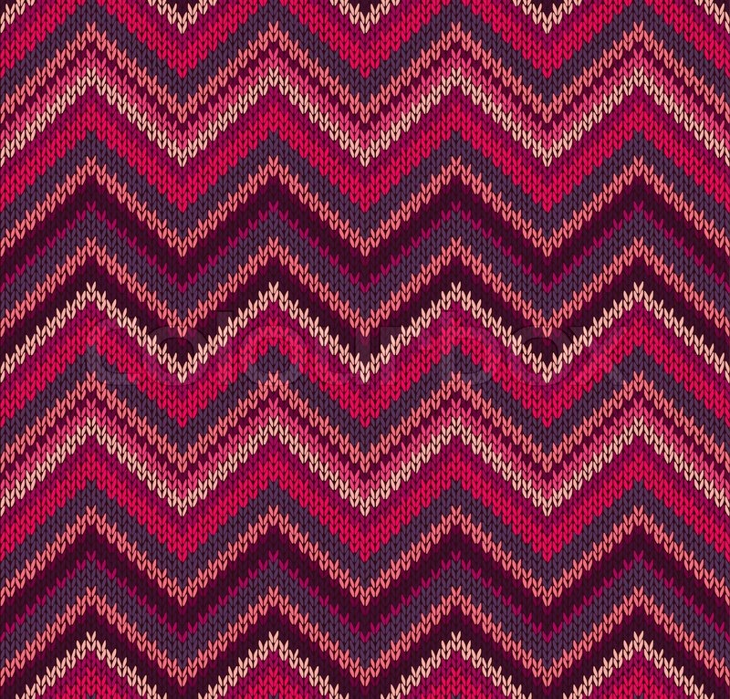 Patterns For Knit Fabric : Red Pink Knit Texture , Beautiful Knitted Fabric Pattern Stock Vector Col...