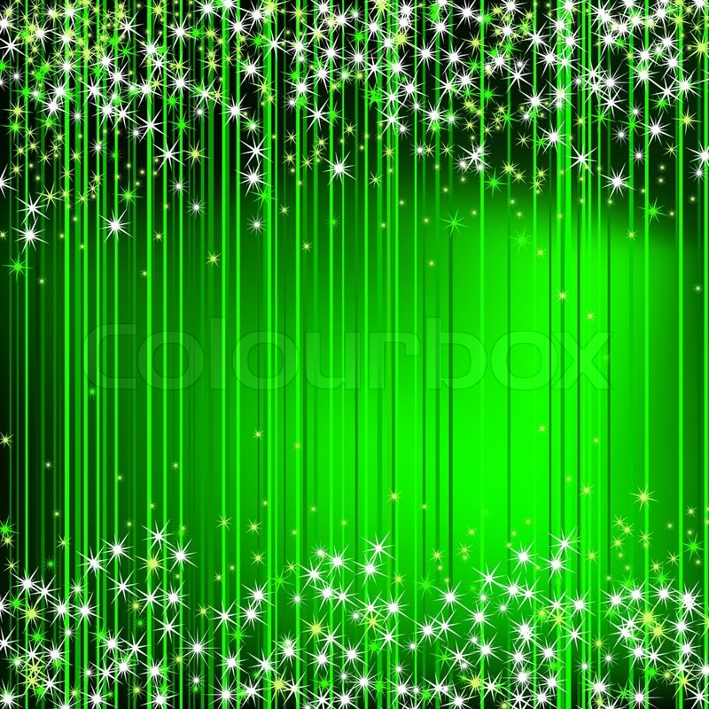 green abstract background with stars stock vector