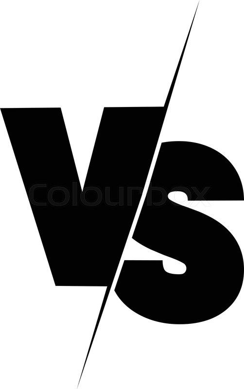 Versus Sign Black And White Symbol Stock Vector Colourbox