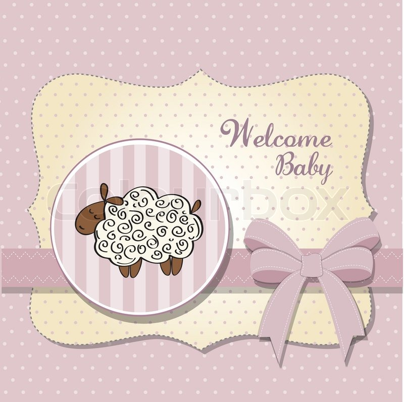 Baby Shower Wiki: Cute Baby Shower Card With Sheep