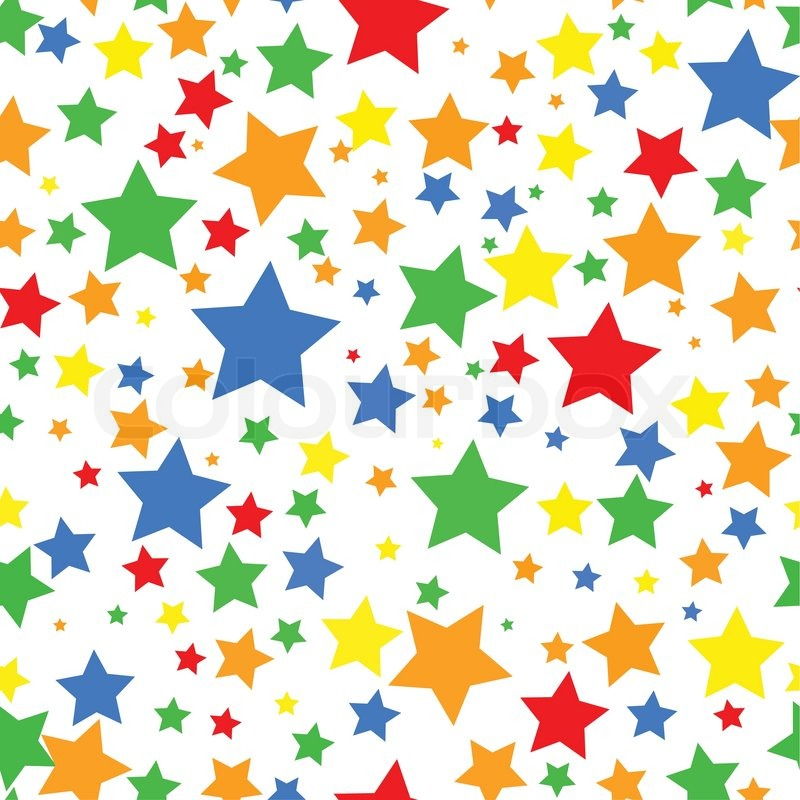 Seamless background with colorful stars | Stock Vector ...