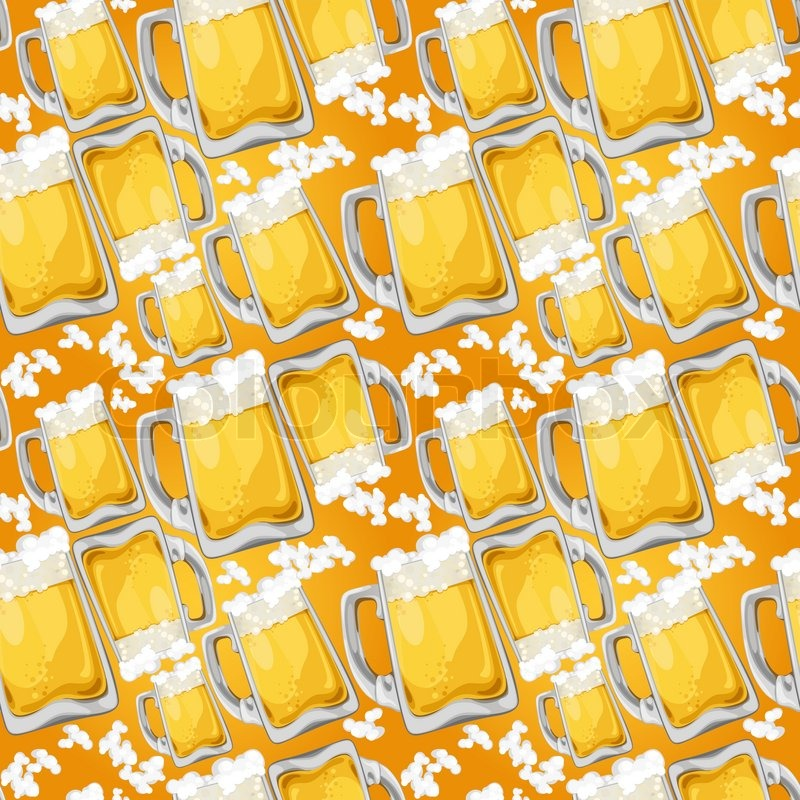 Beer seamless pattern stock vector colourbox for Irish mail cart plans