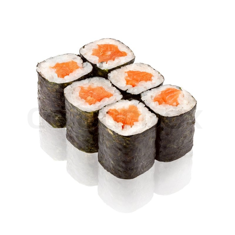 Japanese Cuisine Salmon Maki Sushi Stock Photo Colourbox