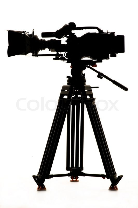 Silhouette Of The Camera And Tripod