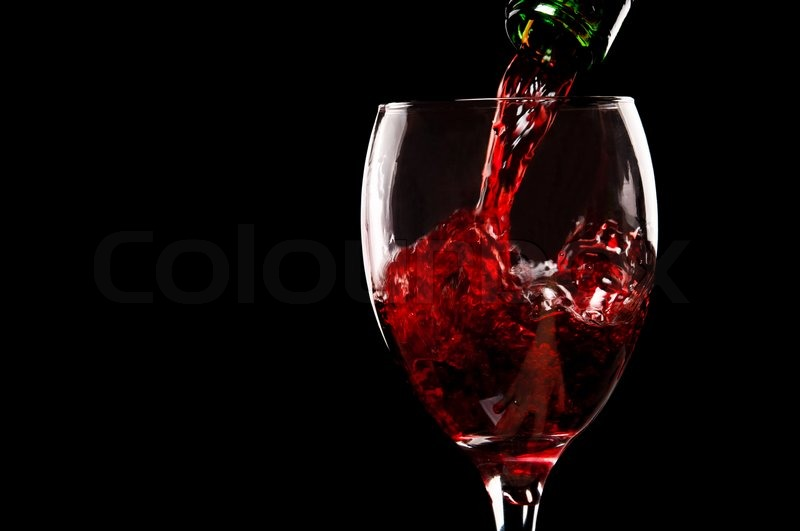 Pouring red wine stock photo colourbox for Red glass wine bottles suppliers