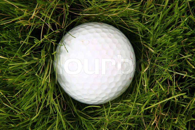 Golf Ball In The Green Grass As Sport Background