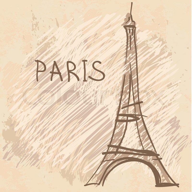 Stock vector of 'Eiffel Tower, Paris, France'