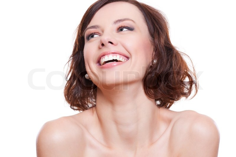 Attractive laughing model, stock photo