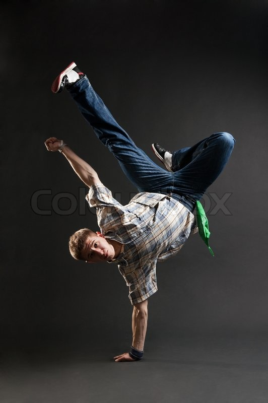 Breakdancer Standing In Cool Freeze Stock Photo Colourbox