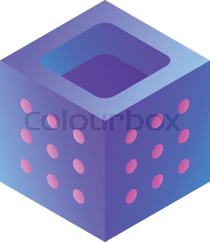 Power cube icon  Isometric of power     | Stock vector