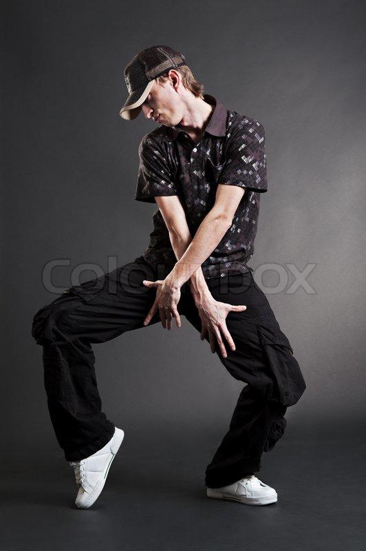 Hip Hop Dancer Posing Stock Photo Colourbox