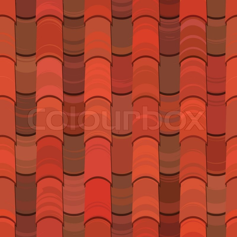 Well-known Seamless red clay roof tiles   Stock Vector   Colourbox XJ01