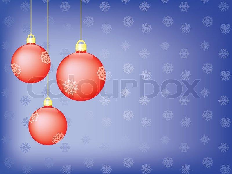 blaue weihnachten hintergrund mit weihnachtsbaum kugeln. Black Bedroom Furniture Sets. Home Design Ideas