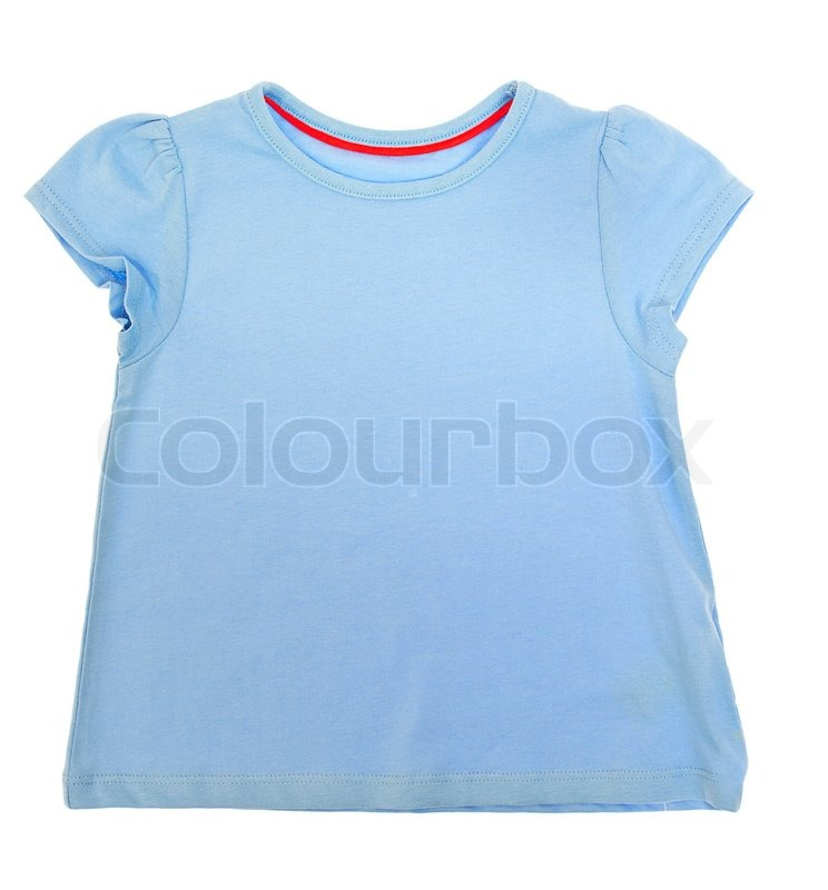 Stock image of 'Children's clothing pink T-shirtisolated on white'