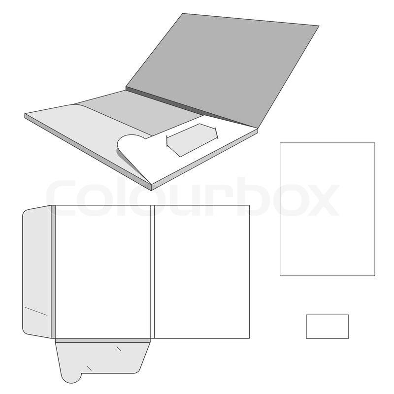 Template for folder | Stock Vector | Colourbox