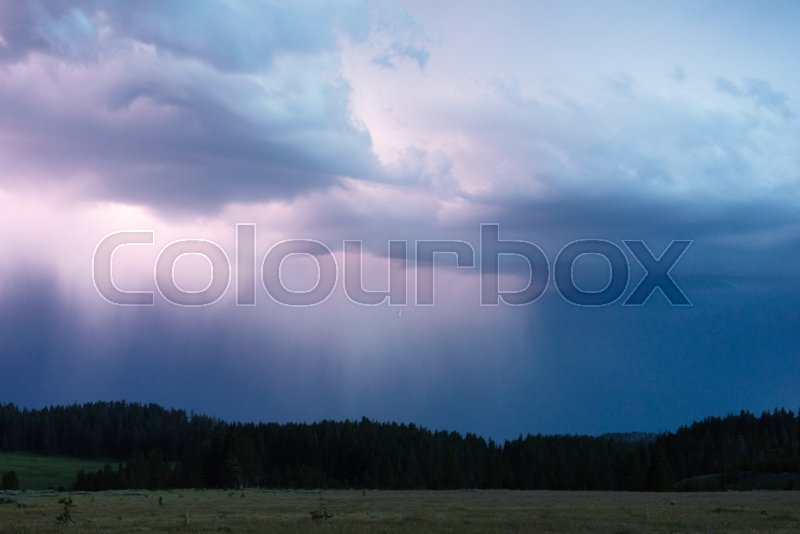 Over Norris Canyon Thunderstorm ...