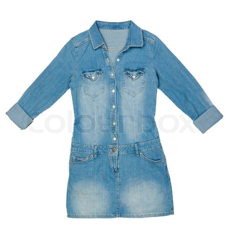 Denim Dress on Blue Denim Dress