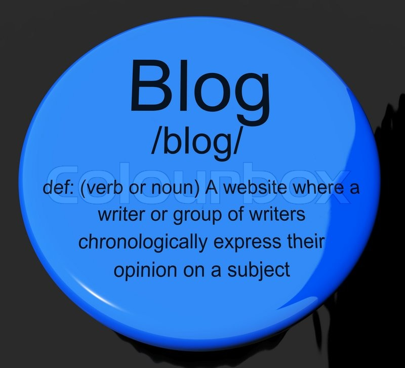 what is a blog button