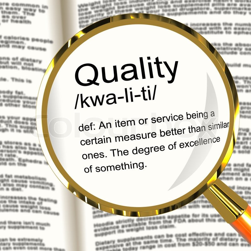 Quality Definition Magnifier Showing Excellent Superior Premium | Stock  Photo | Colourbox