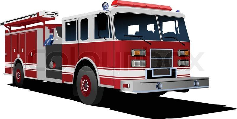 Feuerwehr Leiter Isoliert Auf Hintergrund Vektor