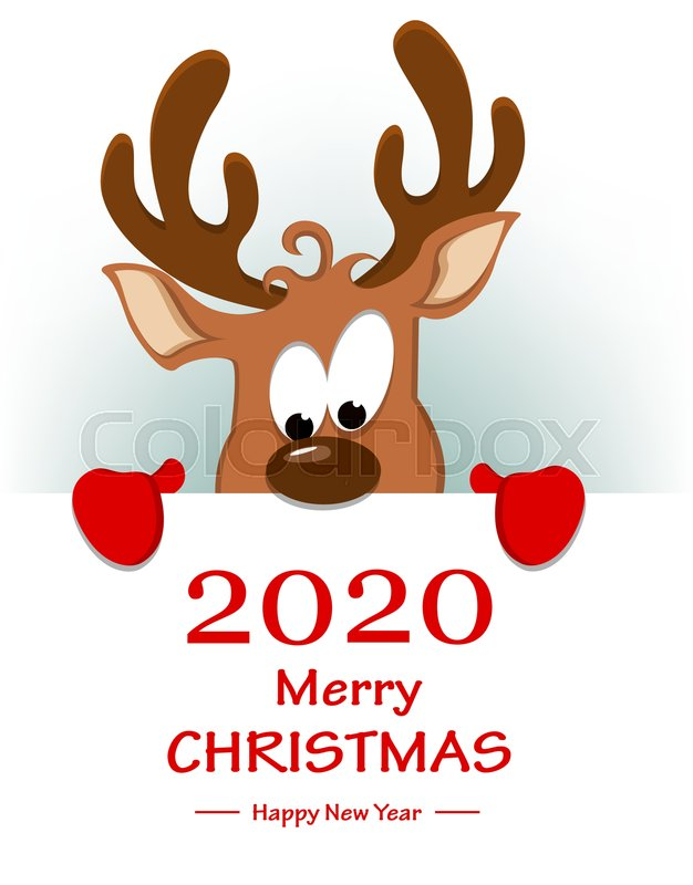 Merry Christmas And Happy New Year 2020 Funny Merry Christmas and Happy New Year  | Stock vector | Colourbox