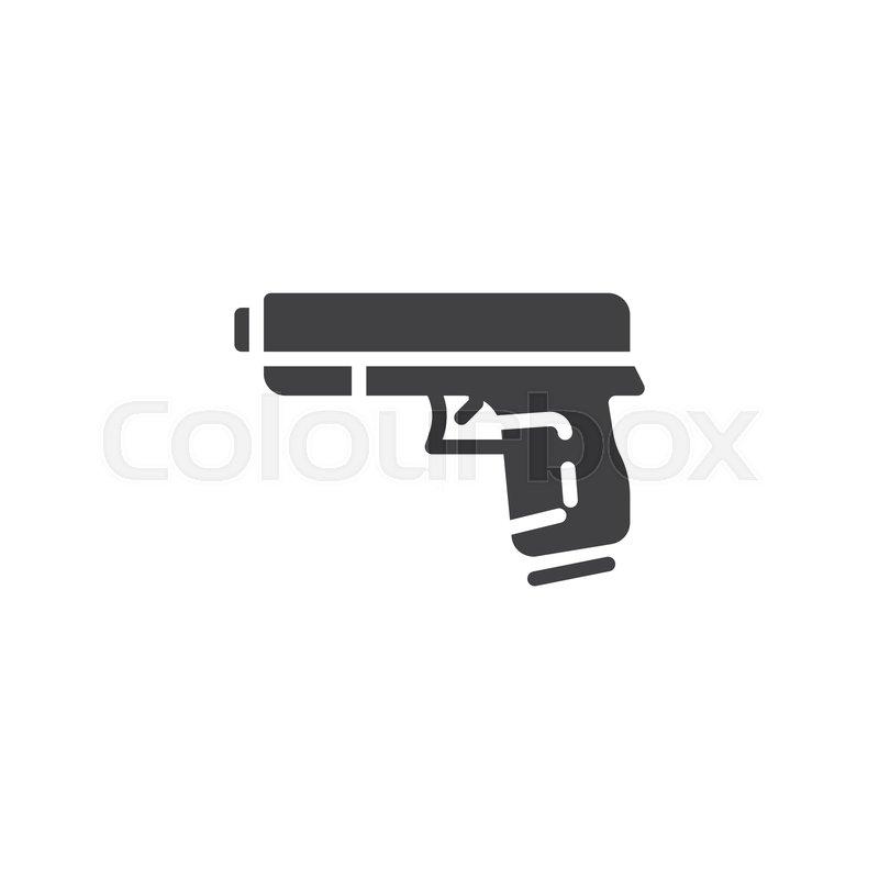 gun pistol vector icon hand gun stock vector colourbox gun pistol vector icon hand gun