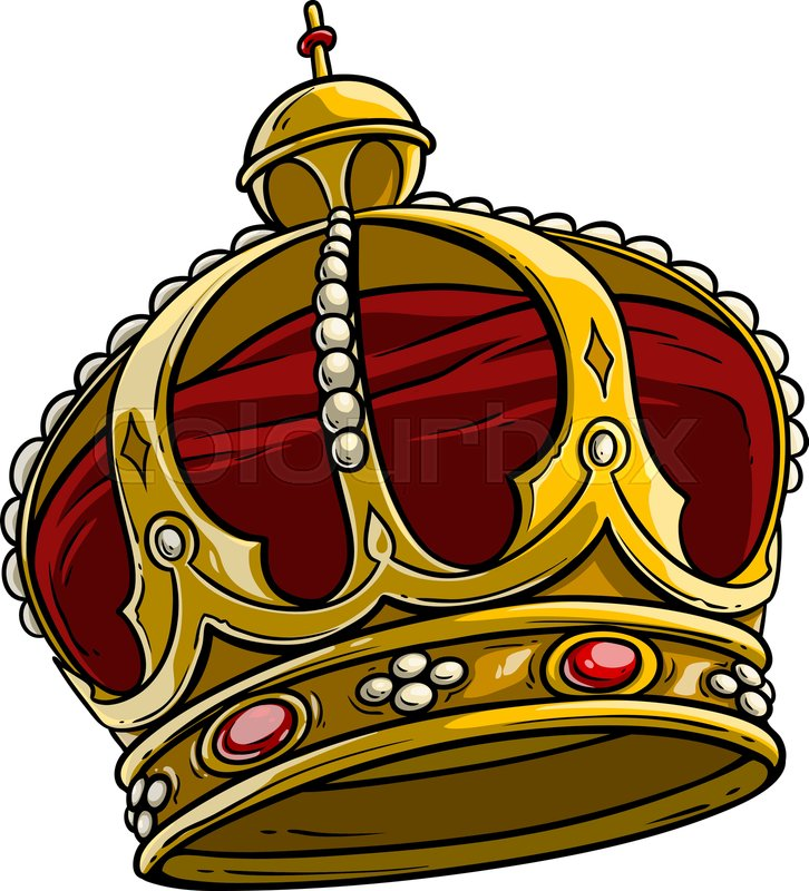 Cartoon Golden Royal King Crown With Stock Vector Colourbox 3axis.co have 8 crown vector for free to download. cartoon golden royal king crown with
