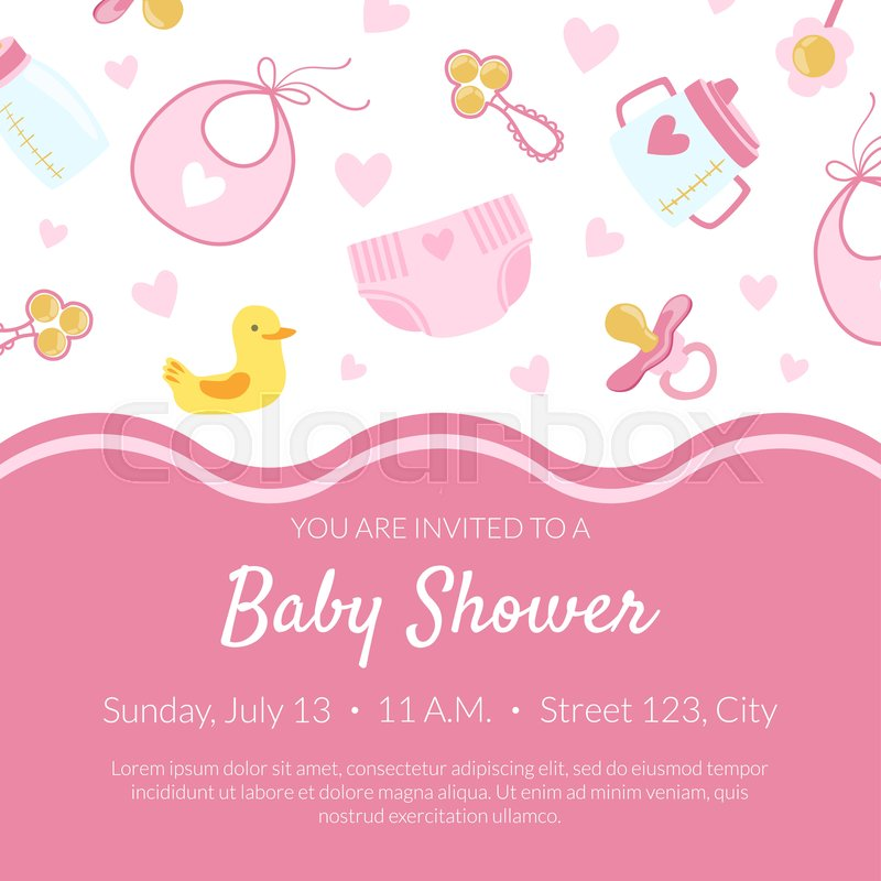 Baby Shower Invitation Banner Stock Vector Colourbox