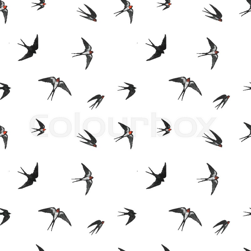 91fd31646f433 Seamless pattern with black flying ... | Stock vector | Colourbox