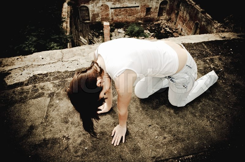 Stock image of 'Drunk young girl'