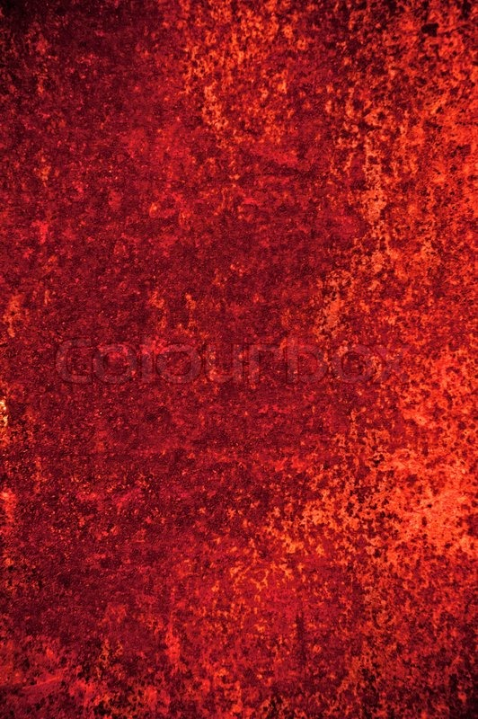 Abstract Grunge Background Red Rusty Wall With Stains And