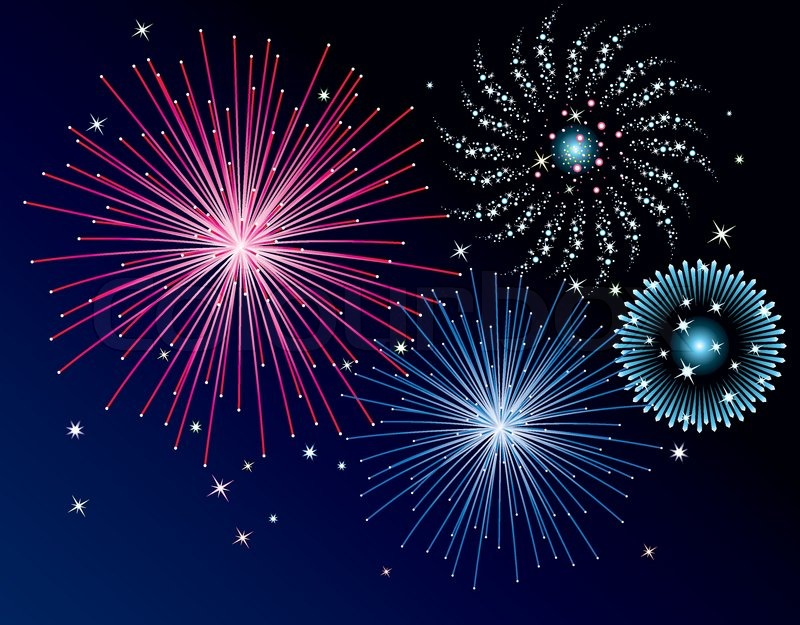 vector fireworks background stock vector colourbox