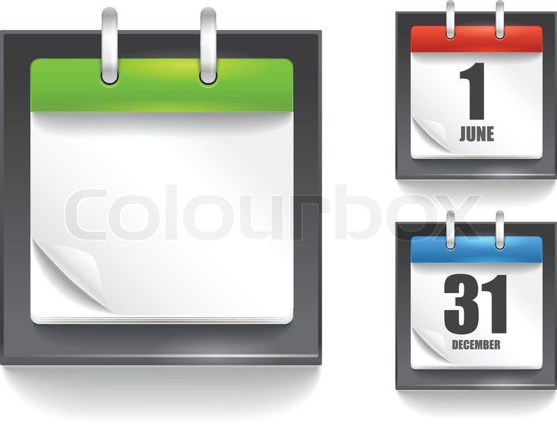 Papier Tagebuch Vorlage mit der Biegewinkel | Vektorgrafik | Colourbox
