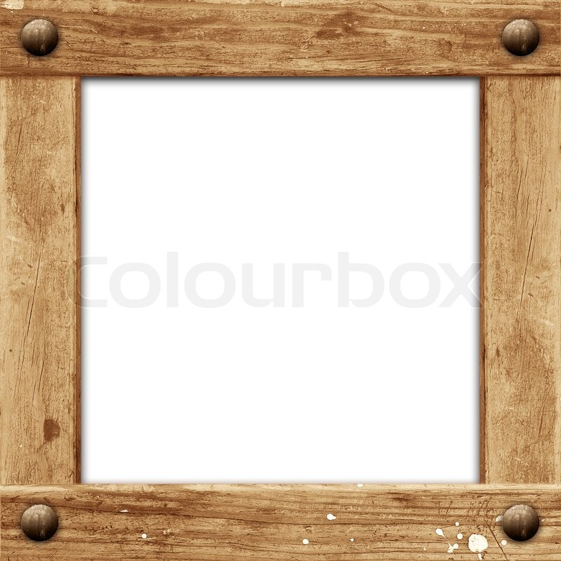 Grunge wooden frame | Stock Photo | Colourbox