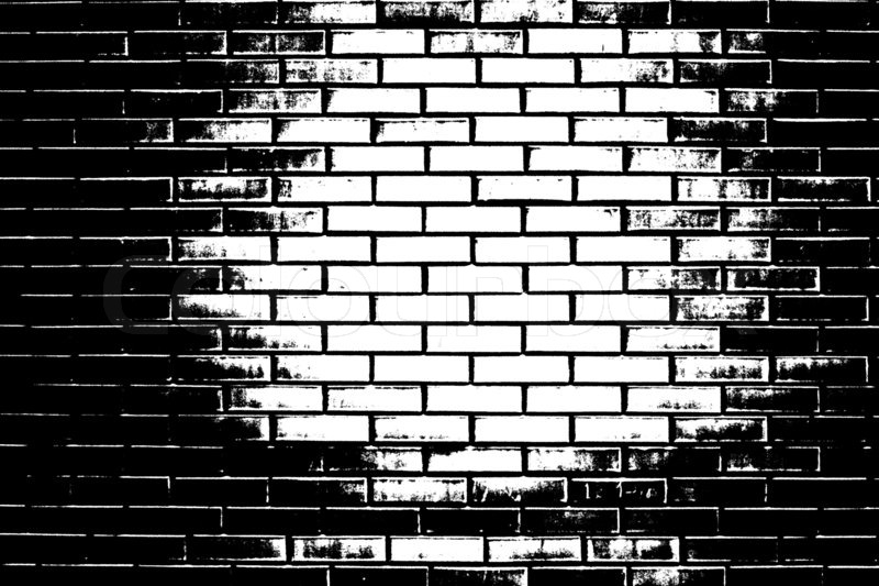 Masonry Trowel Black And White : Black and white brick wall stock photo colourbox