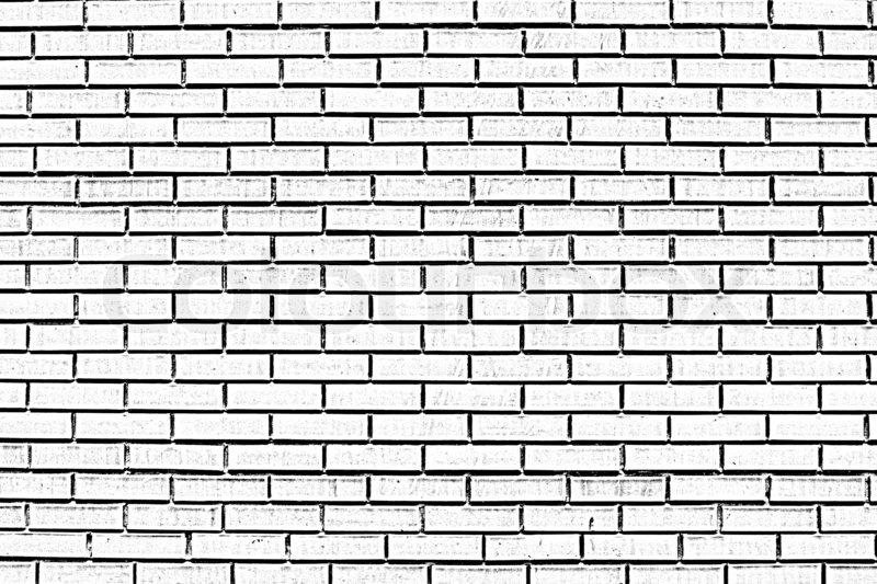 Black And White Brick Wall Stock Image Colourbox