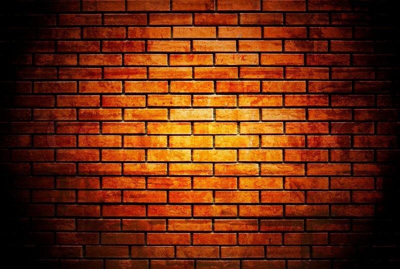 Brick Wall With Up Spotlight