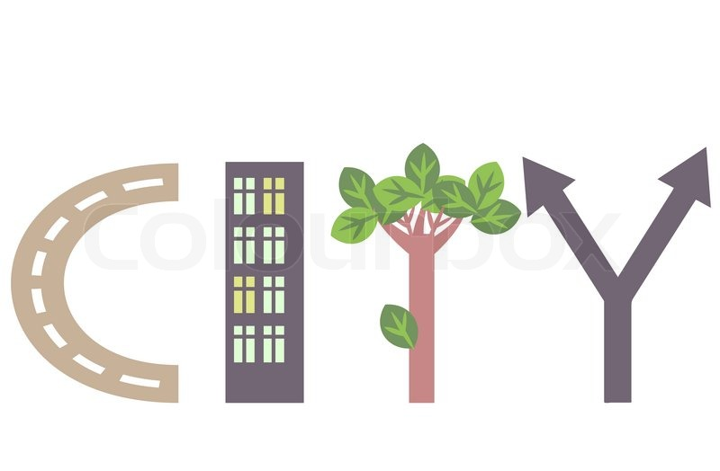 City Word Abstract Illustration Vector 4039774 on Simple House Plans